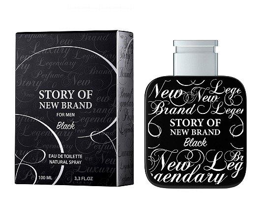 Story of New Brand Black Eau de Toilette New Brand 100ml - Perfume Masculino