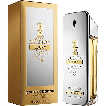 1 Million Lucky Paco Rabanne Eau de Toilette 100ml - Perfume Masculino