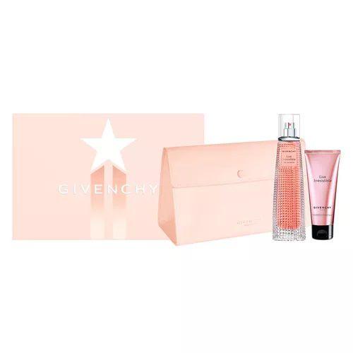 Kit Givenchy Live Irrésistible  Eau de Parfum 75ml + Loção Corporal 75ml + Nécessaire