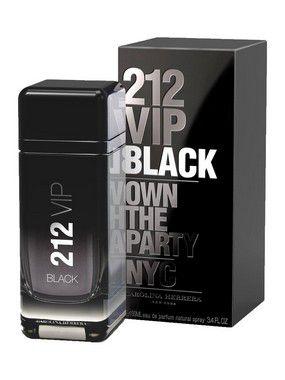 212 VIP Black Eau de Parfum Carolina Herrera 200ml - Perfume Masculino