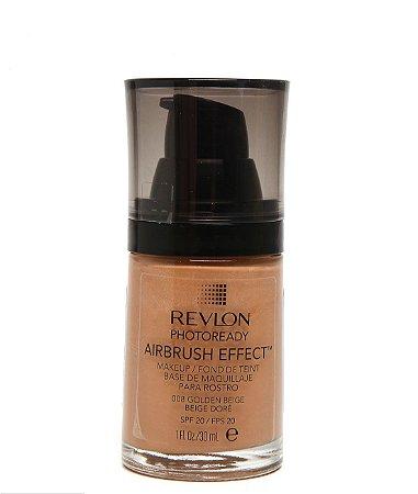 Base Líquida Photoready Airbrush Effect MakeUp Revlon - Golden Beige - 30ml