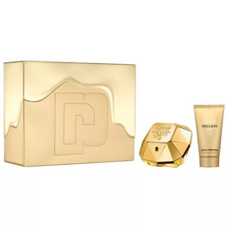Kit Lady Million Paco Rabanne Eau de Parfum 50ml + Body Lotion 75ml - Feminino