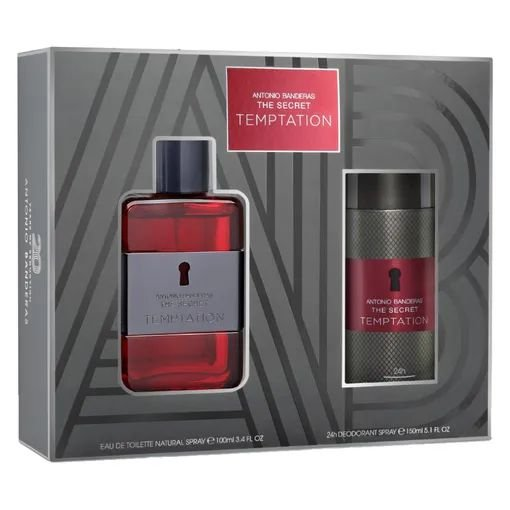 Kit The Secret Temptation Antonio Banderas Eau de Toilette 100ml + Desodorante 150ml - Masculino