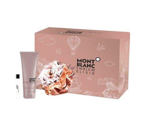 Kit Emblem Lady Elixir Montblanc Eau de Parfum 75ml - Miniatura 7,5ml - Body Lotion 100ml