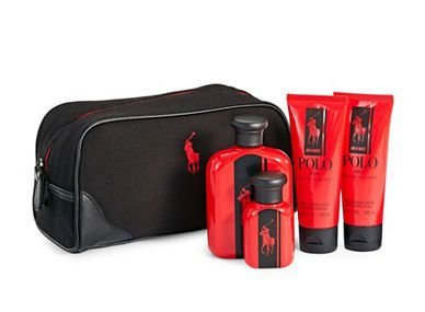 Kit Polo Red Intense Ralph Lauren Eau de Toilette 125ml + Miniatura 40ml + Pós Barba 100ml + Gel de Banho 100ml + Necessaire