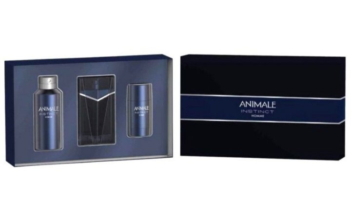 Kit Animale Instinct Eau de Toilette 100ml + Body Spray 120ml + Deodorant 72g