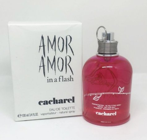 4c00e7cd56 Tester Amor Amor In a Flash Cacharel Eau de Toilette 100ml - Perfume  Feminino