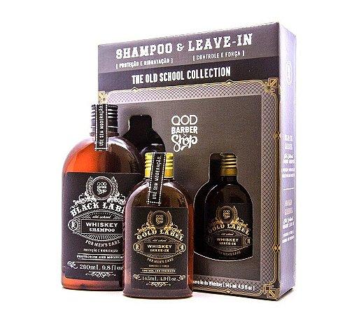 Kit QOD Barber Shop Whiskey  - Shampoo 290ml + Leave-in 145ml