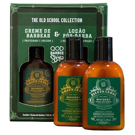 Kit OQD Barber Shop Whiskey  - Creme de Barbear 145g + Loção Pós-Barba 165g
