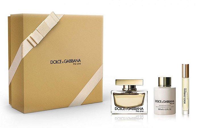 Kit Dolce & Gabbana The One Eau de Parfum 75ml + Loção Corporal 100ml + Miniatura 7,4ml