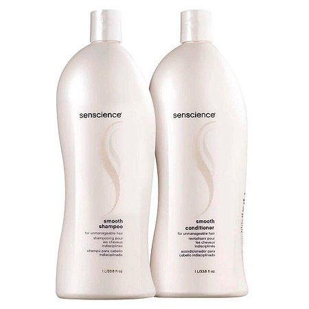 Kit Senscience Smooth - Shampoo e Condicionador - 1 Litro Cada