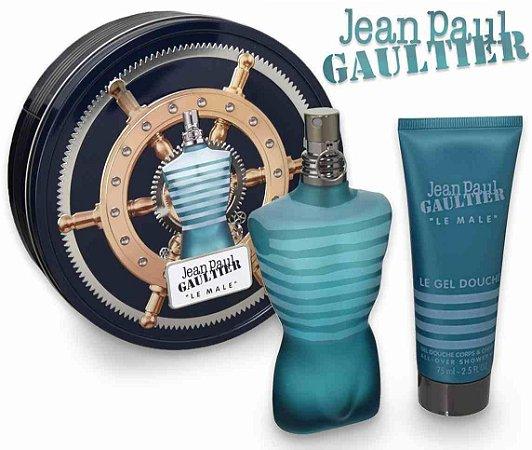 Kit Le Male Jean Paul Gaultier Masculino Eau de Toilette 75ml + Gel de Banho 75ml