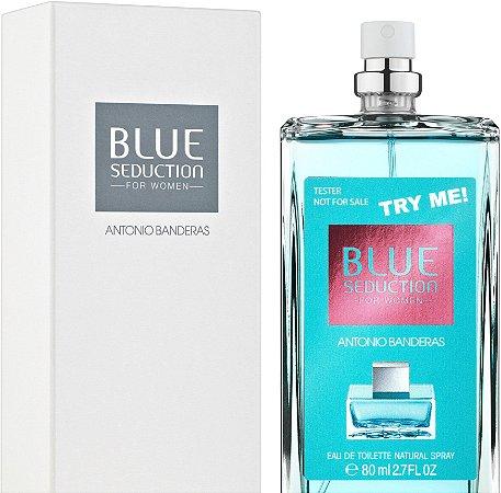 Tester Blue Seduction For Women Antonio Banderas EDT 80ml - Perfume Feminino