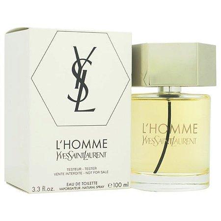 Tester L'Homme Eau De Toilette Yves Saint Laurent 100ml - Perfume Masculino