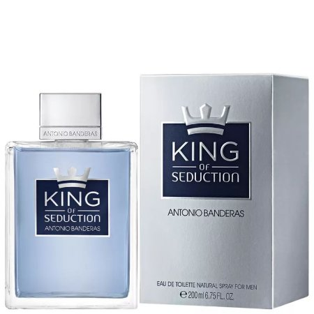 King of Seduction Eau de Toilette Antonio Banderas 200ml - Perfume Masculino
