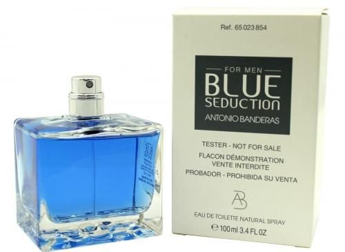 Tester Blue Seduction For Men Eau de Toilette Antonio Banderas 100ml - Perfume Masculino