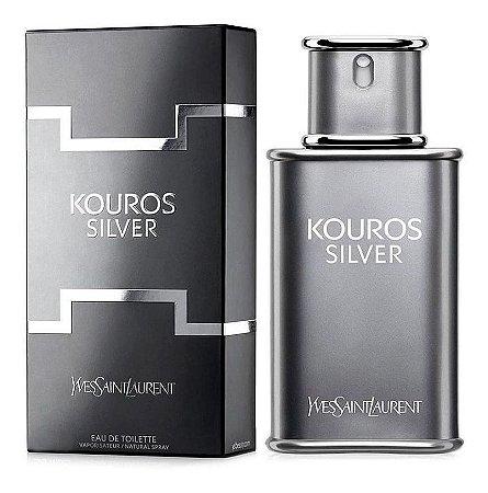 Kouros Silver Eau de Toilette Yves Saint Laurent 50ml - Perfume Masculino