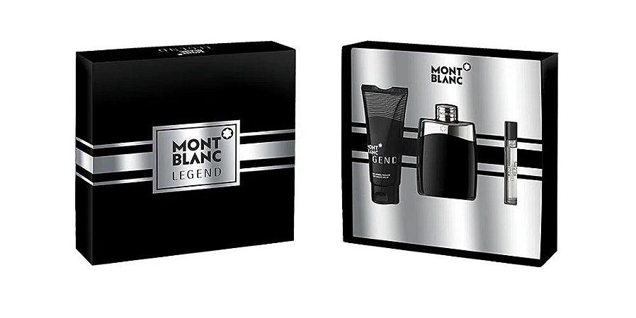 Kit Montblanc Legend Eau de Toilette 100ml + Miniatura 7,5ml + Pós-Barba - Masculino