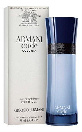 Tester Armani Code Colonia EDT Giorgio Armani 75ml - Perfume Masculino