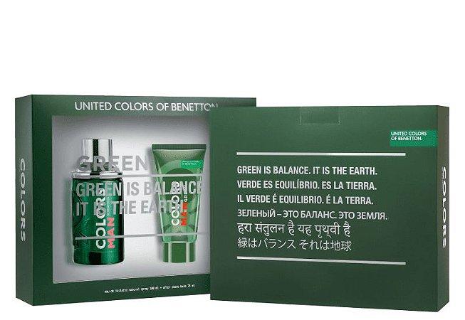 Kit Colors Man Green Benetton Eau de Toilette 100ml + Pós Barba 75ml - Masculino