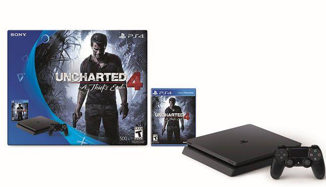 Console PlayStation 4 Slim 500GB + Jogo Uncharted 4 - Sony