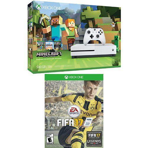 Xbox One S Console 500GB - Minecraft Bundle e FIFA 17