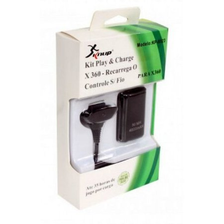 Kit Com 2 Bateria para Controle Recarregavel E Cabo - xbox one