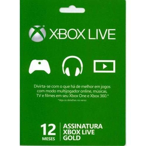 Microsoft Xbox Live - 12 Meses Gold Card