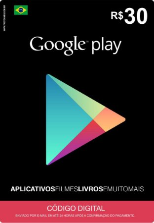 Cartão Google Play Brasil R$30