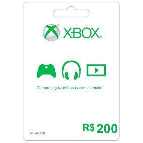 Cartão XBOX Live R$200 (Live Brasil)