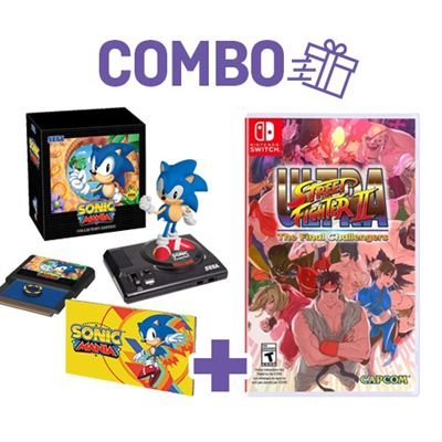 Combo Sonic mania Collector's Edition + Ultra Street Fighter II: The Final Challengers - Switch
