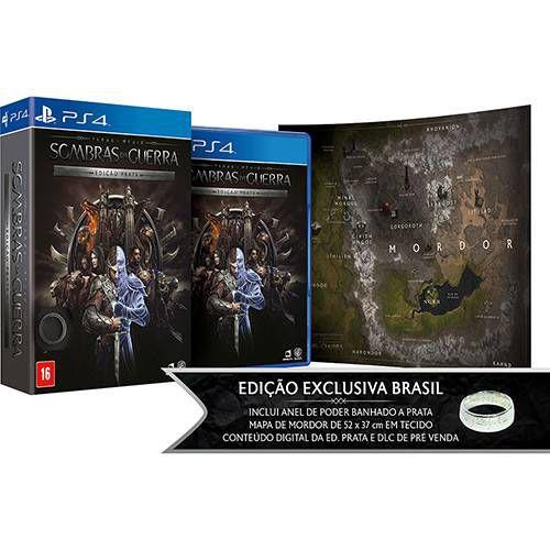 Game Sombras da Guerra Ed. Prata - PS4