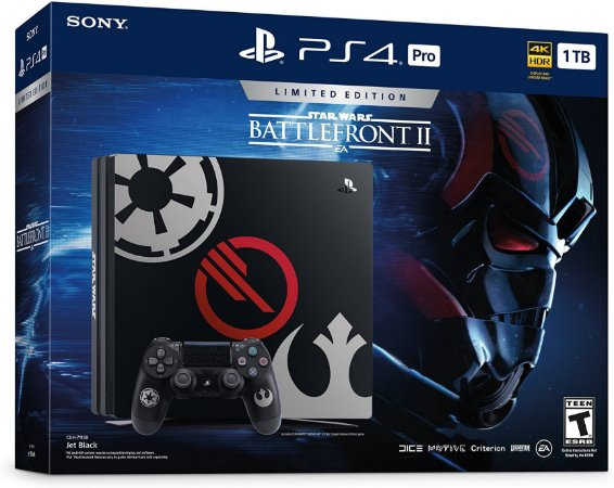 Console - PlayStation 4 Pro  Star Wars Battlefront II Bundle - 1TB Limited Edition