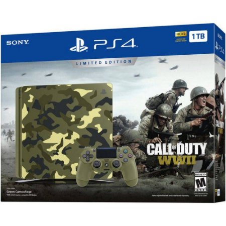 Console - PlayStation 4 slim   Call of Duty WWII - 1TB Limited Edition