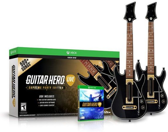 Kit Guitar Hero: Live (2 Guitar Bundle) - Xbox one