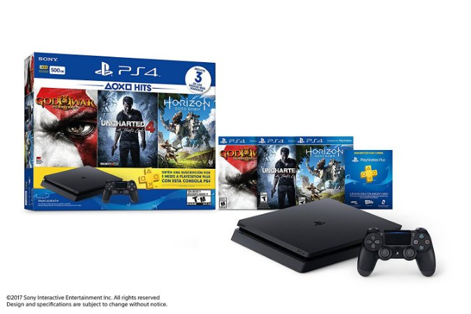 Console PlayStation 4 Slim 500GB + 3 Jogos + 3 Meses Plus - Sony