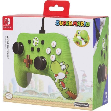 Controle Com Fio Para Nintendo Switch Edição Especial Yoshi