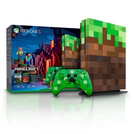 Console Xbox One S 1Tb com Jogo Minecraft Edition Bundle Microsoft