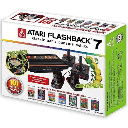 Console Atari Flashback 7 Classic Game 101 Jogos C 4 Controles - Atari