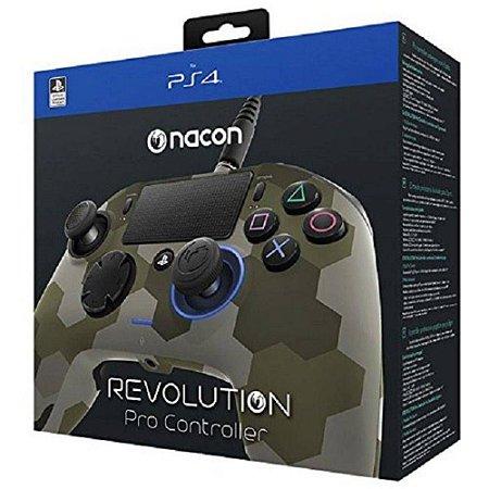 Controle Revolution Pro Nacon Camuflado Verde - Ps4