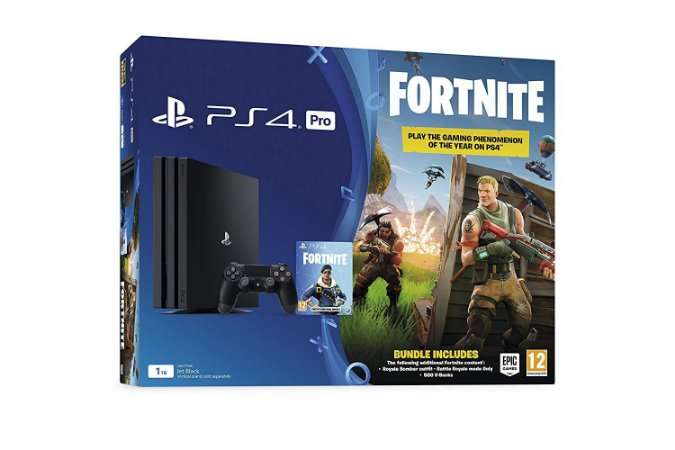 Console PlayStation 4 Pro  1TB with Fortnite Royal Bomber Pack