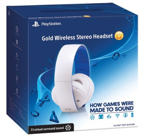 Headset Gamer Gold 7.1 Wireless Sony Branco Para Playstation Ps4 Ps3 Ps Vita