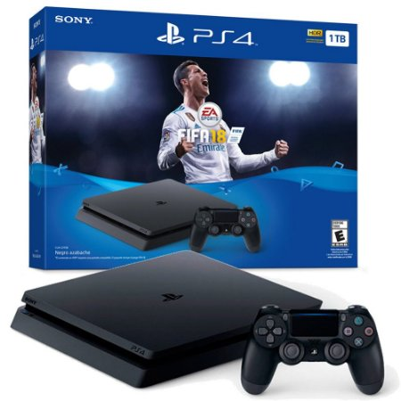 Console PlayStation 4 Slim 1TB Bundle com FIFA 18 - UHD
