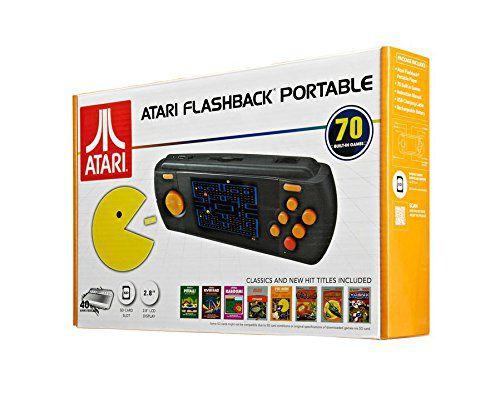 "Console Atari Flashback Portable tela de 2.8"" com 70 Jogos"