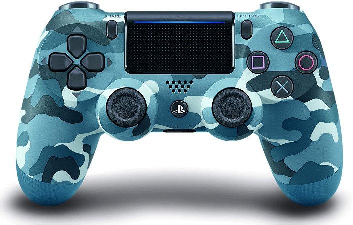Controle Dualshock 4 Ps4 Usa - Jet Azul Camuflado