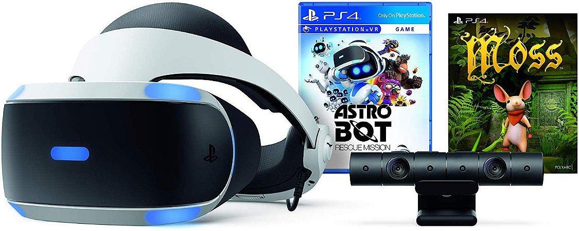 Oculos Playstation Vr + Camera Astro Bot E Moss Zvr2
