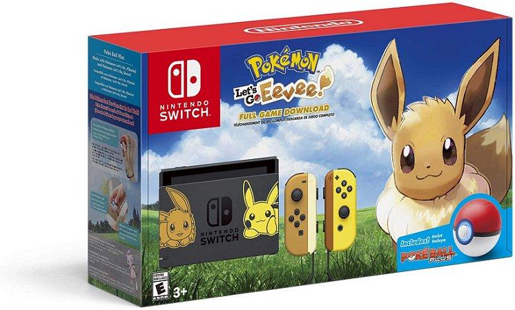 Console Nintendo Switch Pokemon Let's Go Eevee Bundle