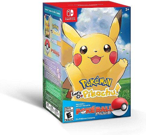 Pokemon Lets Go Pikachu ! + Pokebola - Nintendo Switch