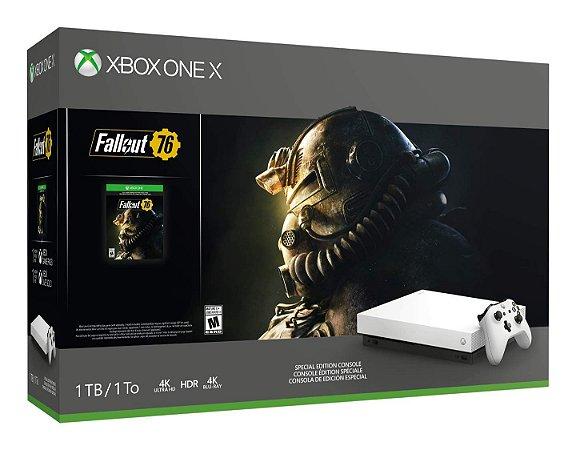 Console Xbox One X 1TB Console - Fallout 76 Bundle Branco
