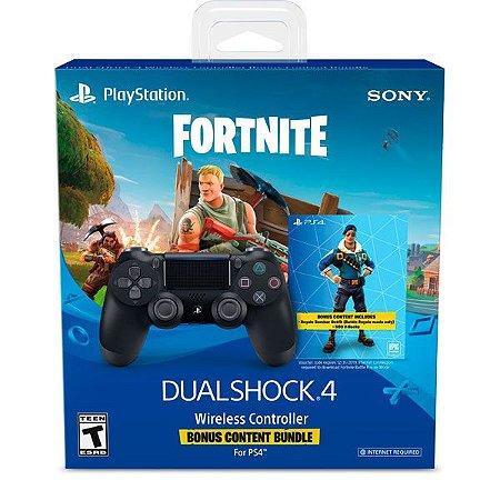 Controle Dualshock 4 V2 Usa Preto Fortnite Bundle